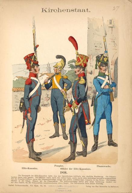 Italy. Papal States, 1820