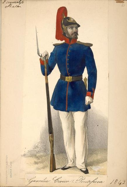 Italy. Papal States, 1840-1859