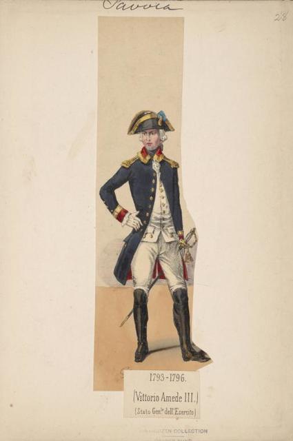 Italy. Piedmont and Savoy. 1775-1799