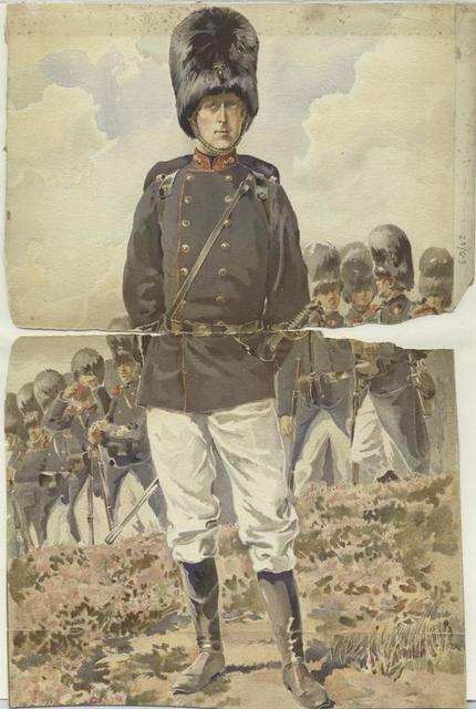 King Albert as Colonel of the Regiment of Grenadiers, 1897