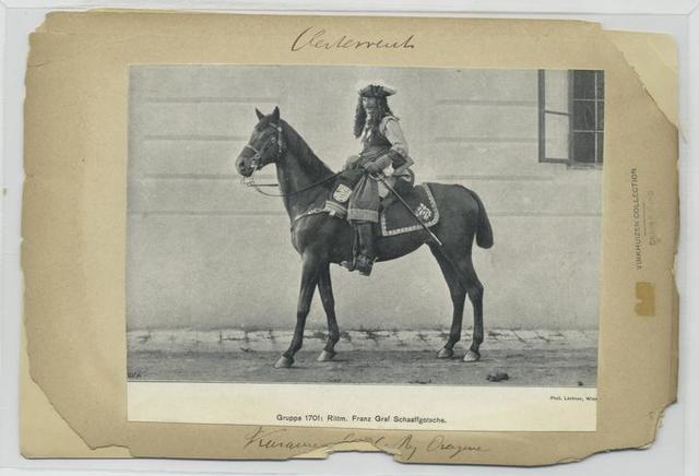 Kürassier [...] Rgt. Dragoner. [= Gruppe 1701 Rittm. Franz Graf Schaaffgotsche.]