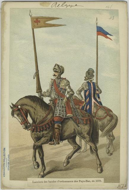 Lanciers des bandes d'ordonnance des Pays-Bas, en 1572