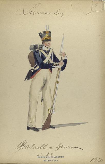 Luxembourg, batailler de garnison n. 35, 1820