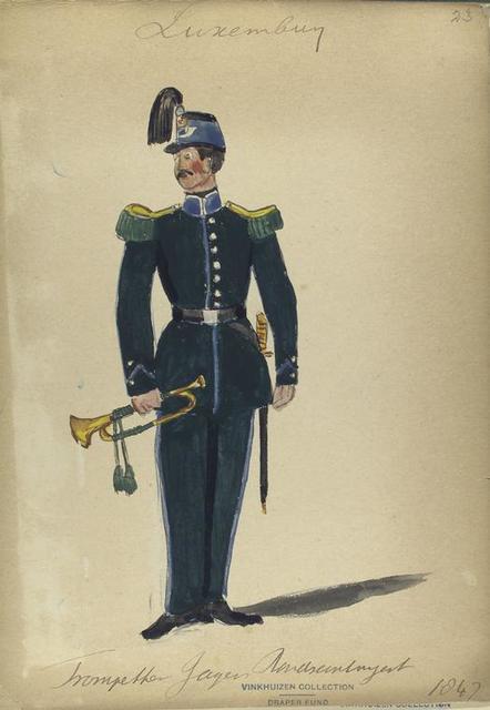 Luxemburg, trompetter jager Randsantuyert [?], 1847