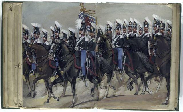 Luxemburgisches Kontingent, Jäger zu Pferd. 1842-47