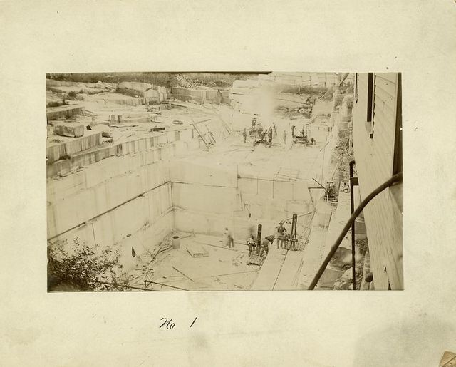 Marble quarrying, Dorset, Vermont.