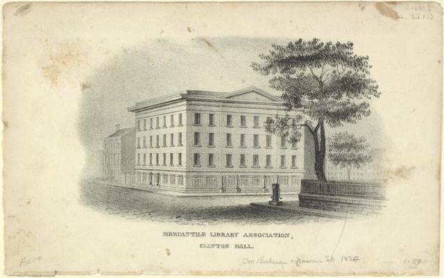 Mercantile Library Association, Clinton Hall.