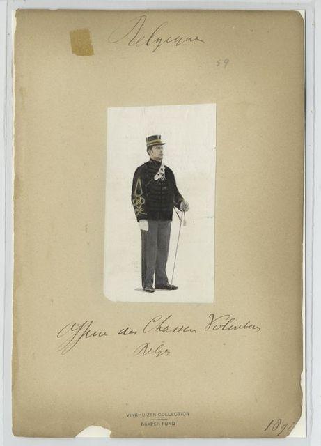 Officier de Chasseur Volontaire belge. 1898