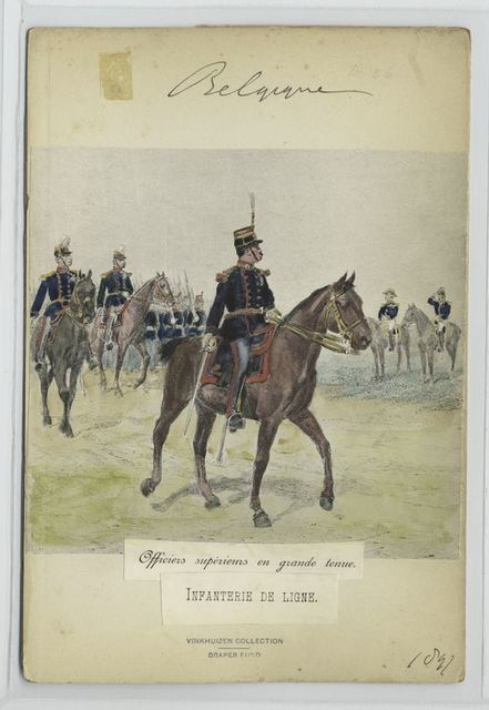 Officiers supérieurs en grande tenue. Infanterie de ligne. 1897