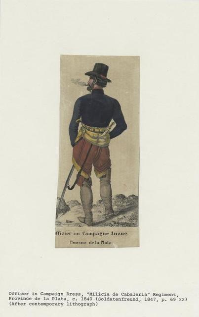 Offizier im Campagne Anzug, Provinz de la Plata