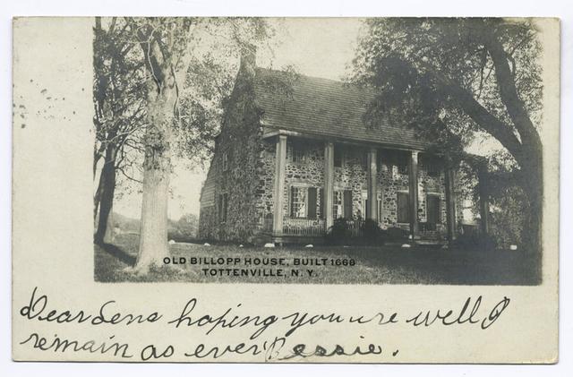 Old Billopp(sic) House, Built 1668, Tottenville, N.Y.