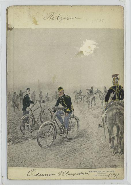 Ordonnans velocipedist [?]. 1897