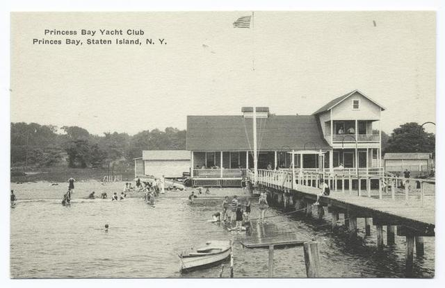 Princess(sic) Bay Yacht Club, Princes(sic)  Bay, Staten Island, N.Y. [same view as #30 except in  black and white and different text.]