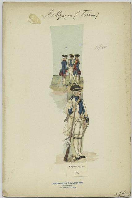 Régiment de Vierset, 1760.
