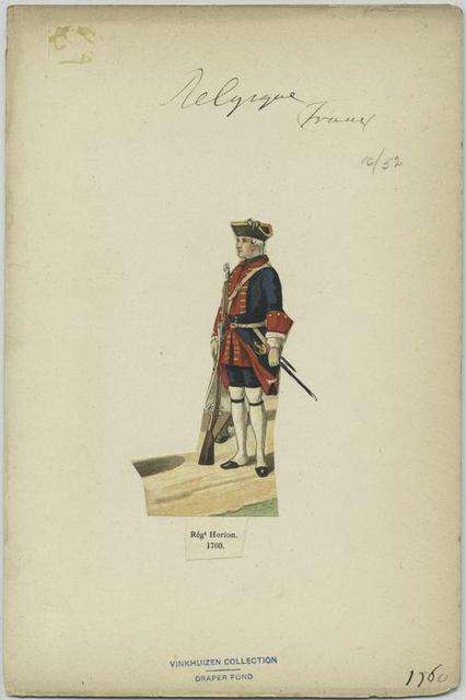 Régiment Horion. 1760.