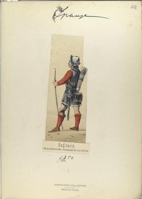 Sagitario, de acostamiento montañas de cantabria  ([Año] 1350).