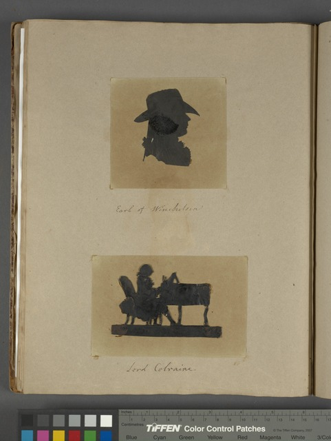"Silhouette, ""Earl of Winchelsea""; silhouette, ""Lord Colraine."""
