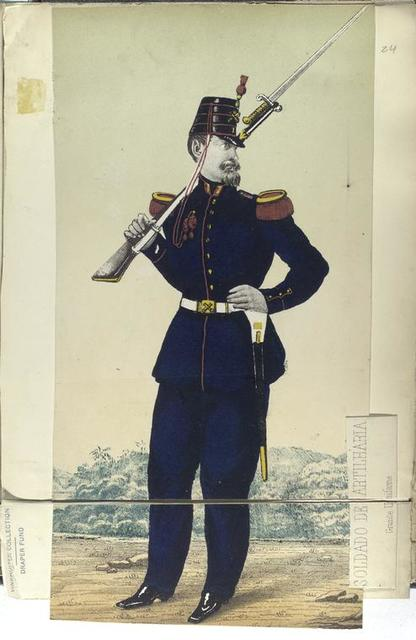 Soldado de artilharia, grande uniforme