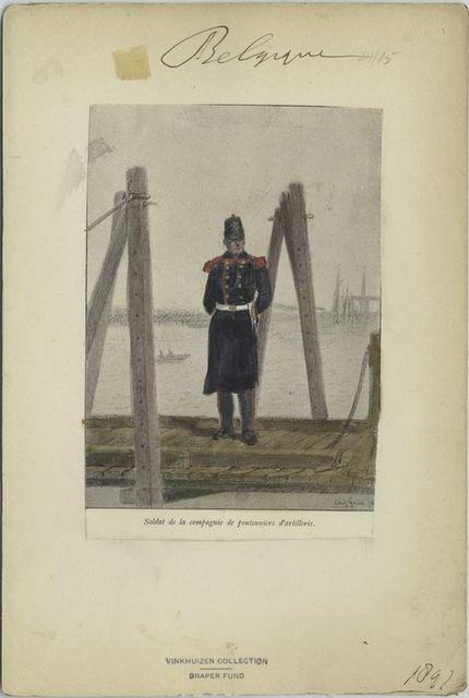 Soldat de la compagnie de pontonniers d'artillerie. 1897