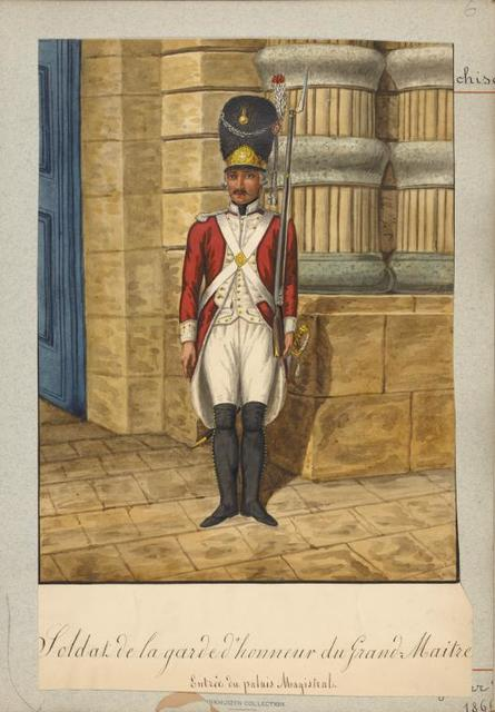 Soldat de la garde de honneur du Grand Maitre.