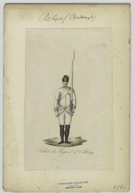 Soldat du régiment d'Arberg