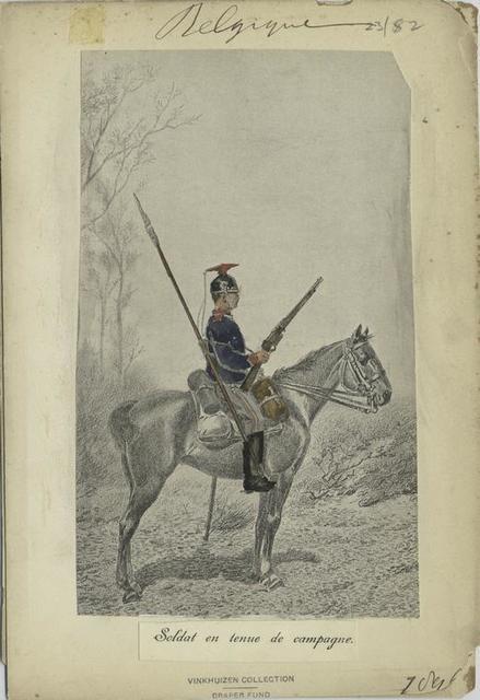 Soldat en tenue de campagne