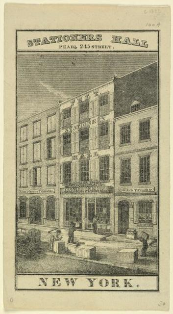 Stationers Hall, Pearl 245 Street, New York.