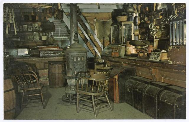 Stephen's General Store (reconstructed by Staten Island  Historical Society, int. of typical general store