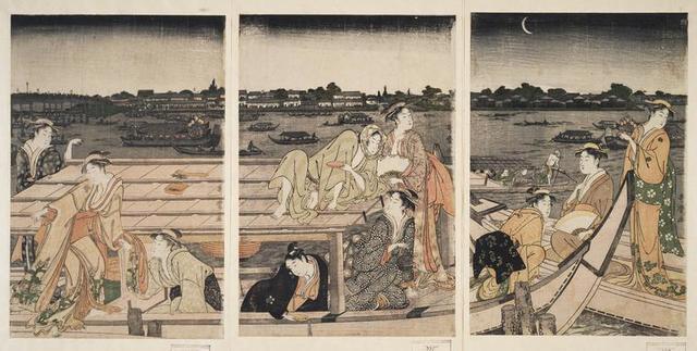 Sumidagawa funa-asobi] = [Pleasure-boating on the Sumida River]