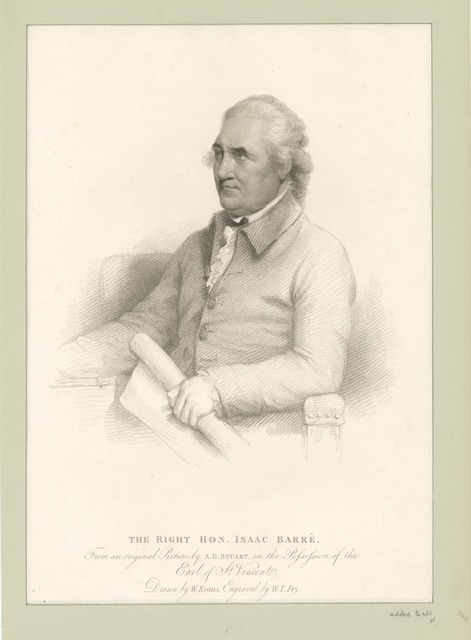 The Right Hon. Isaac Barré.