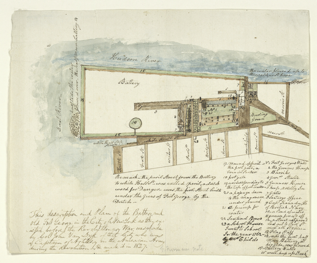 This description and plan of the Battery, and Old Fort George in the city of New York as they existed before the Revolutionary War
