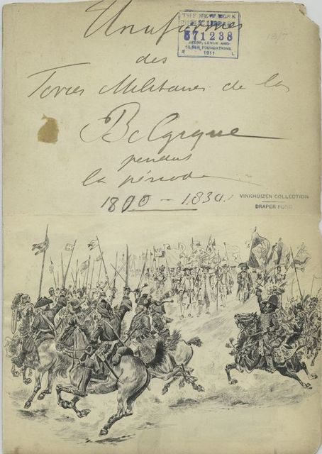 Uniformes des [] militaires de la Belgique pendant la period 1800- 1830