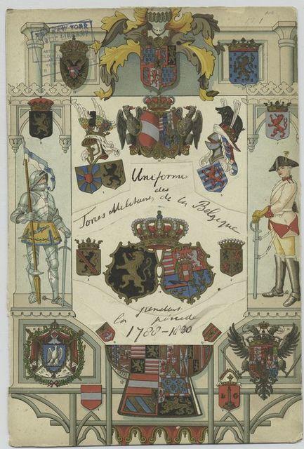 Uniformes des tones militaires se la Belgique pendant la periode 1780-1830