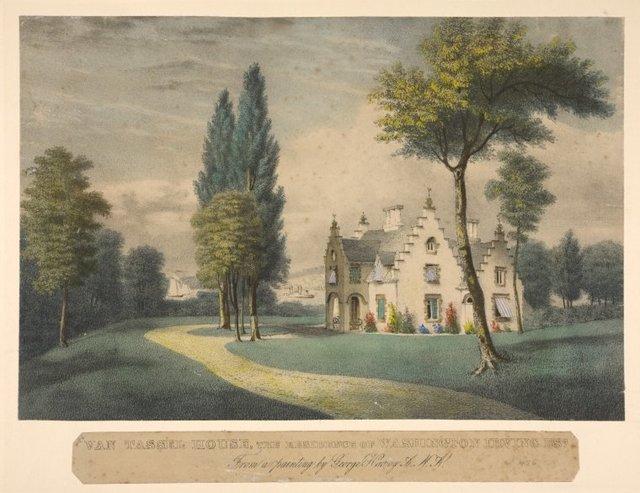Van Tassel house, the resident of Washington Irving, Esq.
