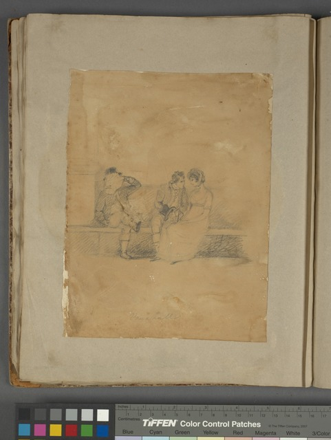 """""""Vauxhall,"""" boy wooing girl, with nearby gentleman covering his face with a handkerchief"""