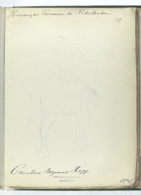 Vereenigde Provincien der Nederlanden. Cavalerie Regiment Hopp [?] 1747
