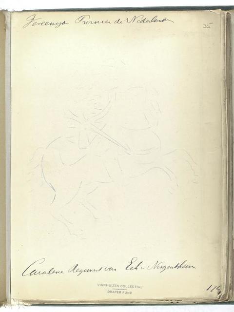 Vereenigde Provincien der Nederlanden. Cavalerie Regiment van Eck [?] van Nergentheim. 1747
