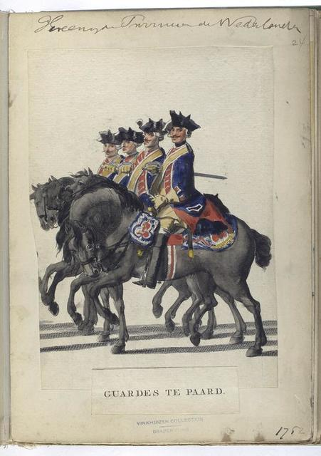 Vereenigde Provincien der Nederlanden. Guardes te Paard. 1752