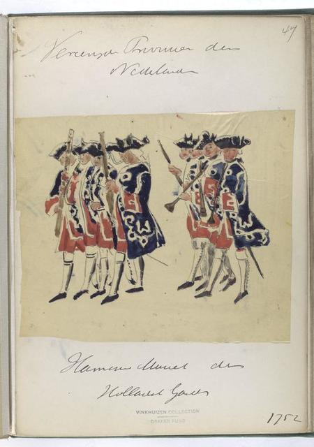 Vereenigde Provincien der Nederlanden. [Hamern Muziek?] der Hollandsch Guardes. 1752