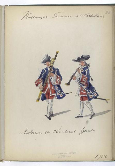 Vereenigde Provincien der Nederlanden. [Hoboïsts?] de Zwitserse Guardes. 1752