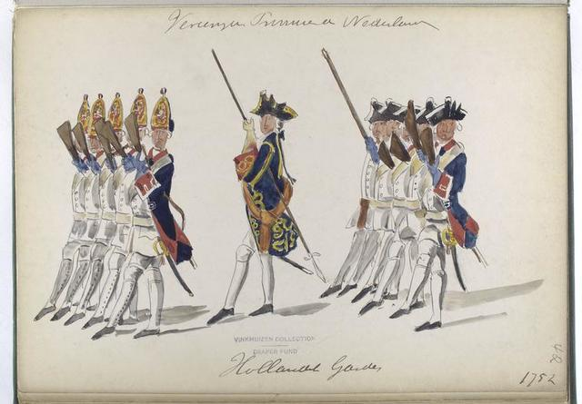 Vereenigde Provincien der Nederlanden. Hollandsche Guardes. 1752