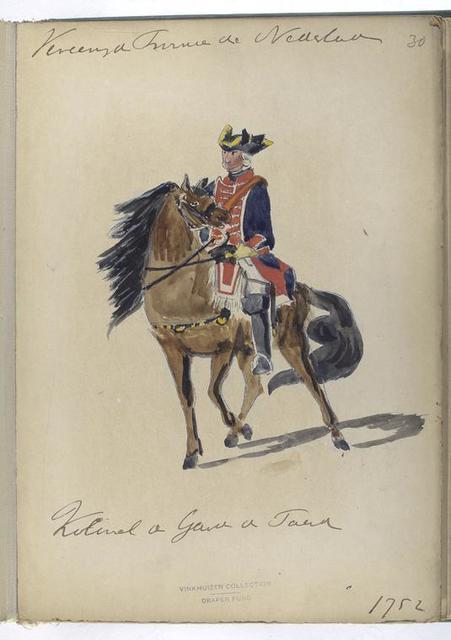 Vereenigde Provincien der Nederlanden. Kolonel de Guardes te Paard. 1752