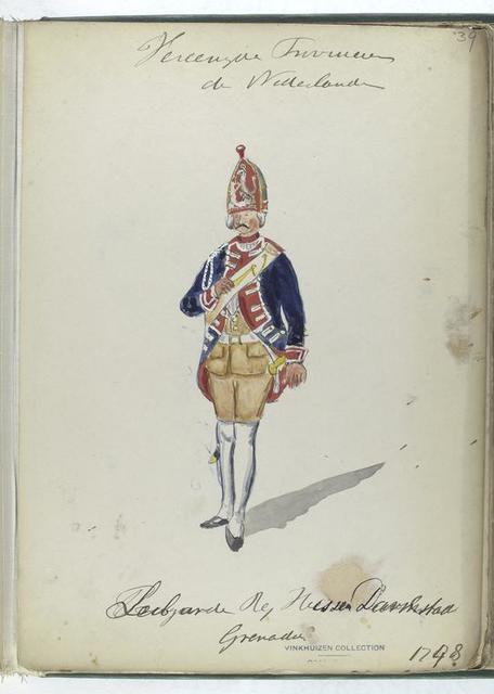 Vereenigde Provincien der Nederlanden. Leibgarde Reg. Hessen Darmstad, Grenadier. 1748