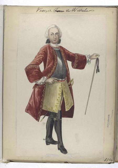 Vereenigde Provincien der Nederlanden. [Officier]  1749