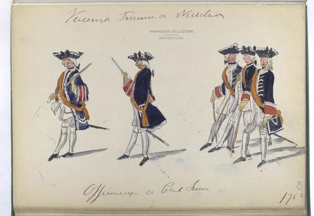 Vereenigde Provincien der Nederlanden. Officiers der Cent Switsers. 1752