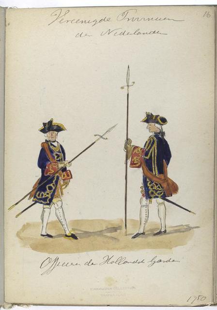 Vereenigde Provincien der Nederlanden. Officiers der Hollandsche Guardes. 1750