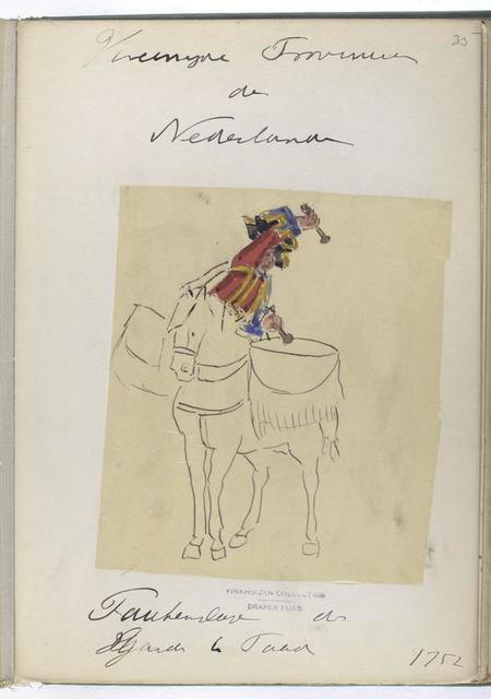 Vereenigde Provincien der Nederlanden. Paukenslager der Guardes te Paard. 1752