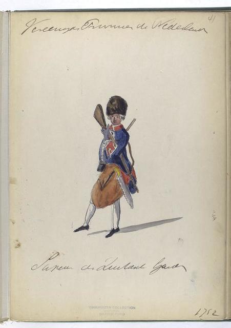 Vereenigde Provincien der Nederlanden. Sapeur der Zwitserse Guardes. 1752