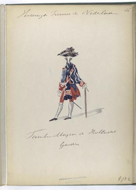 Vereenigde Provincien der Nederlanden. Tambor Major [Tamboer-majoor ] der Hollandsch Guardes. 1752