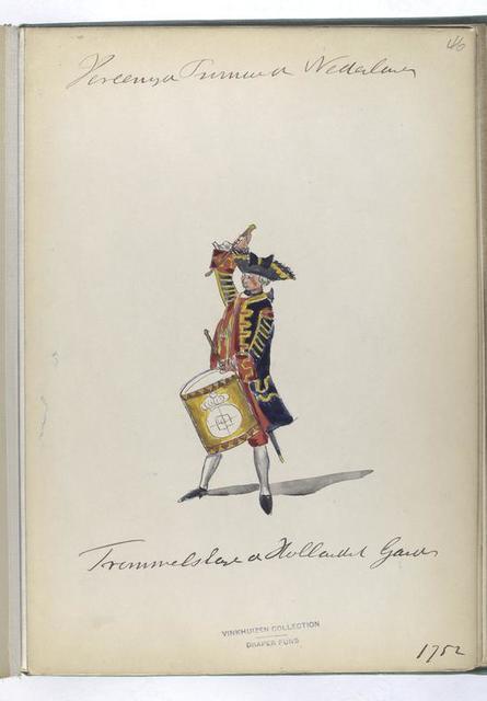 Vereenigde Provincien der Nederlanden. Trommelslager der Hollandsch Guardes. 1752